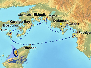 Blue Cruise Bodrum-All Inclusive to                                 Rhodos and Simi - Fethiye