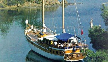 Typical anchorage between Bodrum and Marmaris
