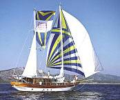 under full sails: MS AYAZ