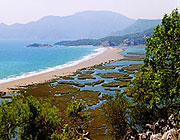 the famous turtle beach of Iztuzu near Dalyan