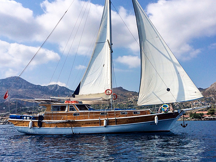 Gulet Yacht M/S IPEK SULTAN starts sailing the blue cruise from Selimiye