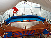 aft deck with table